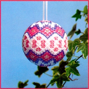 Beaded Crochet Christmas Ornament Cover -- Free Crochet Pattern